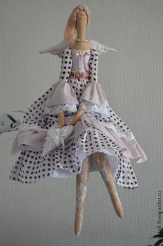 Куклы Тильды ручной работы. Ярмарка Мастеров - ручная работа Нежный ангел Янина. Handmade.