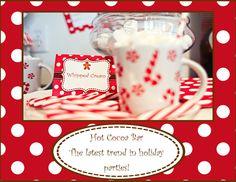 Christmas Party Idea:  Hot Cocoa Bar