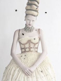 High & Mighty' Elza Luijendijk by Tim Walker for Vogue US March 2013  I love the Bees!!!