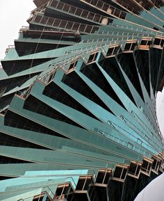 """One of the most amazing buildings in the world... in Panama City, Panama... and it's called """"El Tornillo"""" meaning... the screw."""