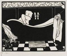 Felix Vallotton :Le Bain, 1894. Xylographie,