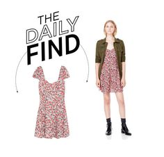 """""""Daily Find: Mango Floral Print Dress"""" by polyvore-editorial ❤ liked on Polyvore featuring MANGO and DailyFind"""