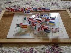 DIY Montessori pin map