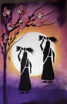 Paint and Picnic in Alamo,ca Rangoli Designs Images, Rangoli Designs Diwali, Beautiful Rangoli Designs, Rangoli Patterns, Worli Painting, Shadow Painting, Fabric Painting, Online Painting, Painting Rangoli Design