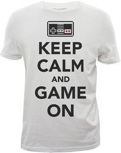 """""""KEEP CALM AND GAME ON"""" graphic tshirt designed for Bluenotes."""
