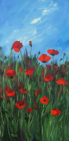 Poppy Painting - The Poppy Field by Torrie Smiley