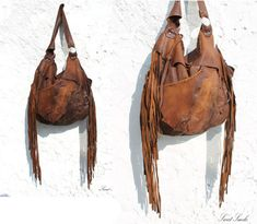 RESERVED for P.  Large tribal leather raw edges by SweetSmokebags, $280.00