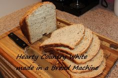 A Hearty Country White Bread is the perfect go to loaf for making in a bread machine.
