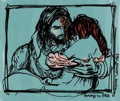 Sandor and Sansa - an homage to Eric Earnshaw by sketchditto.deviantart.com on @deviantART