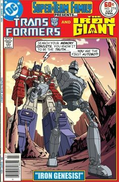 Transformers and Iron Giant Crossover - Optimus Prime Team-Up