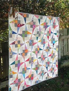 Finished Flutterby quilt
