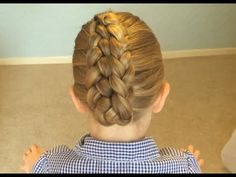 Folded Dutch Braid How to Video Tutorial by Sweethearts Hair Design
