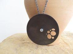 Oxidized silver necklace Modern statement necklace Unique