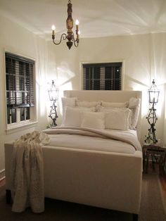 Clean, beautiful and neat. A bedroom that gives a sense of purity and plushness. Fantastic!!