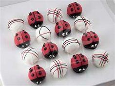 Lady Bug cake balls
