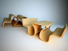 Picnic Bench by Tomasz Chmielewski: Seats with a Split Personality | designed by m