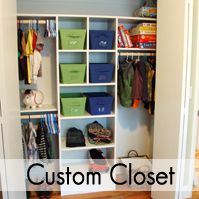 Love the custom closet and the chalkboard doors.    Take the Side Street: Boys' Room {Details & Sources}