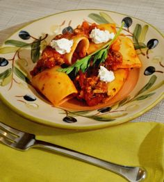 "What's not to love?  Amazing turkey bolognese sauce tossed with ""paccheri"" pasta,  a pasta we saw in many Roman restaurants!  http://oracibo.com/recipe/phyllis-paccheri-with-turkey-bolognese-sauce/"