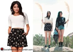 Buy Kendall Jenner's White Sweater and Floral Print Skirt, here!