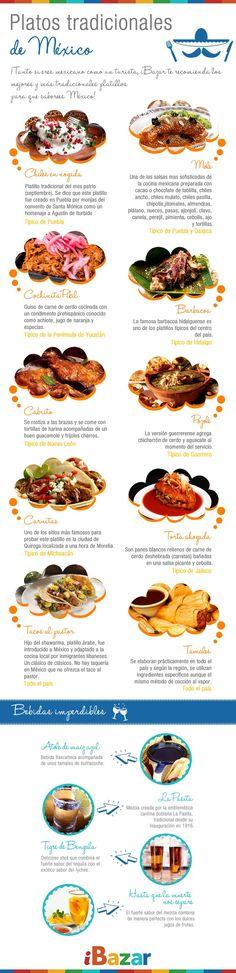 Educational infographic : Platillos tradicionales de #Mexico