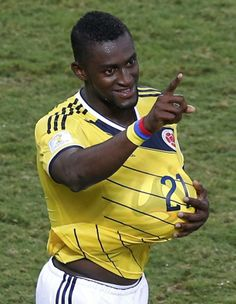 Colombia's Jackson Martinez celebrates scoring a goal against Japan during their 2014 World Cup Group C soccer match at the Pantanal arena in Cuiaba June 24, 2014.