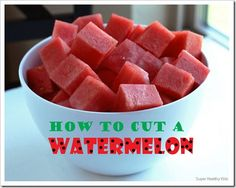 While there is certainly no right or wrong way to cut a watermelon, there certainly is an easy (and fast) way. This is how we did it last week when we had 12 watermelon to cube for church camp! #watermelon #healthyfood #kidsfood