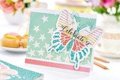Create a butterfly celebration card in the January issue of Crafts Beautiful, on sale 7th December 2017