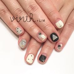 Beautiful nail art designs that are just too cute to resist. It's time to try out something new with your nail art. Asian Nail Art, Asian Nails, Love Nails, My Nails, Geometric Nail Art, Modern Nails, Nail Tattoo, Square Nails, Beautiful Nail Art