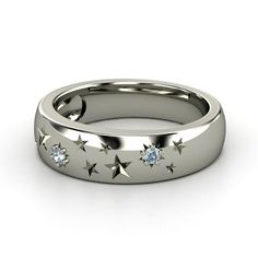 Sterling Silver Ring with Aquamarine  - Written in the Stars Ring | Gemvara