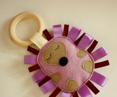 Hedgehog Teether Crinkle Toy - by BabeeBlocks on madeit
