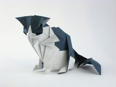 Origami Cat by Katsuta Kyouhei folded by Gilad Aharoni