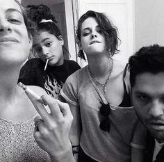 Kristen and pals in Paris 7/5/15