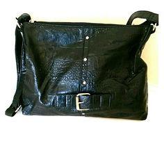 Black textured shoulder bag Black textured shoulder bag Bags Shoulder Bags