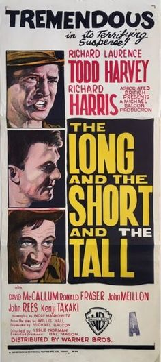 The Long and the Short and the Tall original 1961 Australian/NZ Daybill war movie poster. Available for purchase from our website.