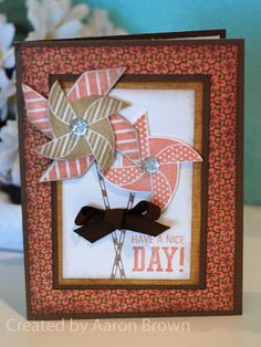 card by Aaron Brown using CTMH Surf's Up paper