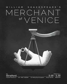 Shakespeare Merchant of Venice print by Shakesposter on Etsy
