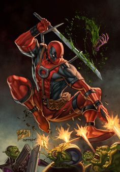 #Deadpool #Fan #Art. (Deadpool No. 1 Variant) By: Capprotti. [THANK U 4 PINNING!!]