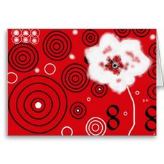 Rot-Weiß-Schwarz-Kreation, Postkarte