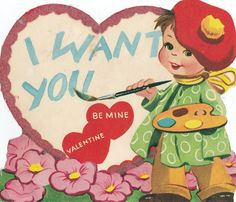 Vintage Valentines Day Card (028)