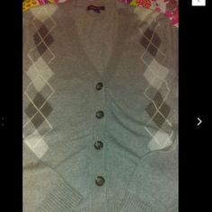 Argyle Cotton Wool Cardigan sweater Nice!SOLD Lands End Argyle Cotton Wool Cardigan sweater Nice! Ladies size LargeFINAL MARKDOWN NO LOWER OFFER ACCEPTED .... Lands' End Sweaters Cardigans
