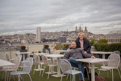 Printemps Rooftop Terrace 64 Boulevard Haussmann 75009 Paris. Take elevator to top then escalator up.