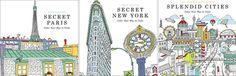 Livros de colorir cidades e pontos arquitetônicos