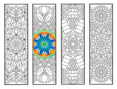 Coloring Bookmarks  Warm Weather Mandalas  coloring by CandyHippie
