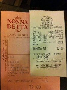 Nonna Betta. in the jewish quarter.
