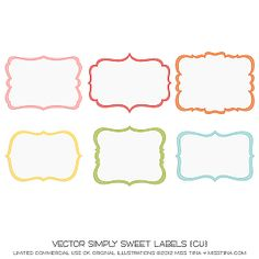 great free templates for labels! | Create. | Pinterest | Free ...