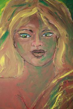 Ciguapa. Mitología dominicana. Acrílico sobre canvas.
