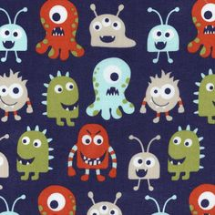 Novelty Quilt Fabric- MonstersNovelty Quilt Fabric- Monsters,