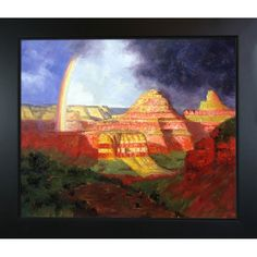 La Pastiche Edward Potthast 'The Grand Canyon' Hand Painted Framed Art