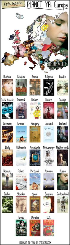 Read your way across the world with this map of Europe made by Epic Reads!