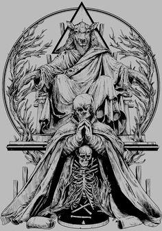 Dark Fantasy Art, Dark Art, Illustrations, Illustration Art, Tattoo Drawings, Art Drawings, Satanic Art, Evil Art, Arte Obscura